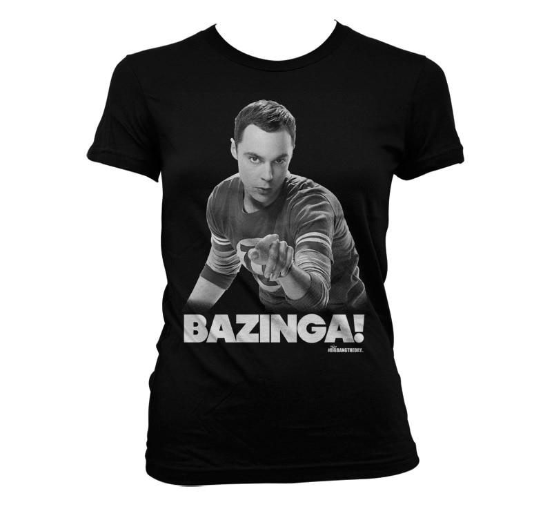Sheldon Says BAZINGA! Girly T-Shirt