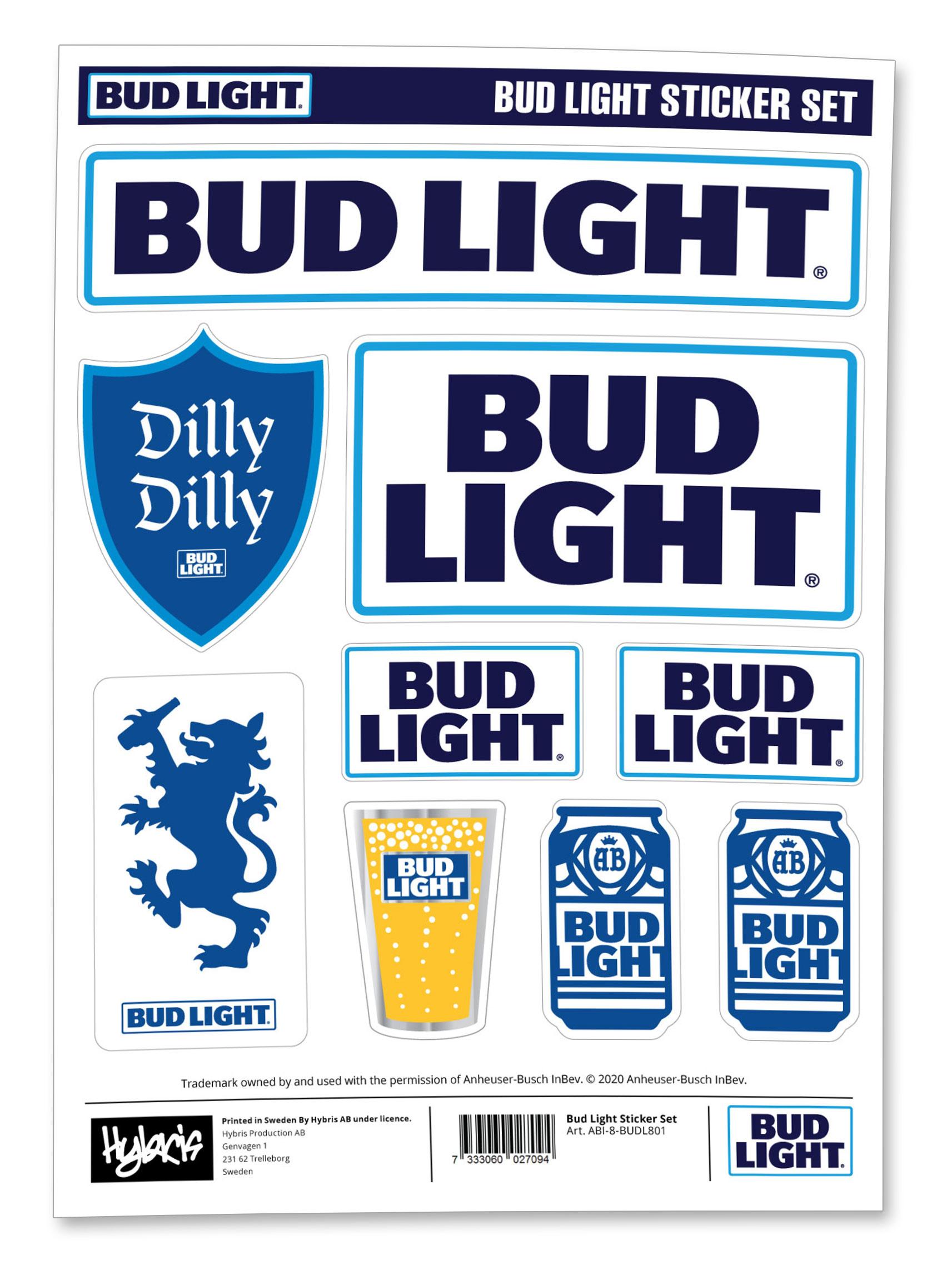 Bud Light Sticker Set