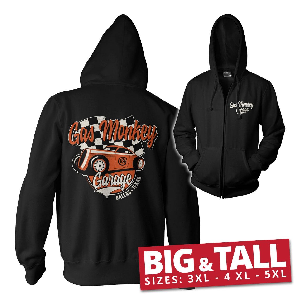 Gas Monkey Garage Racing Big & Tall Zipped Hoodie