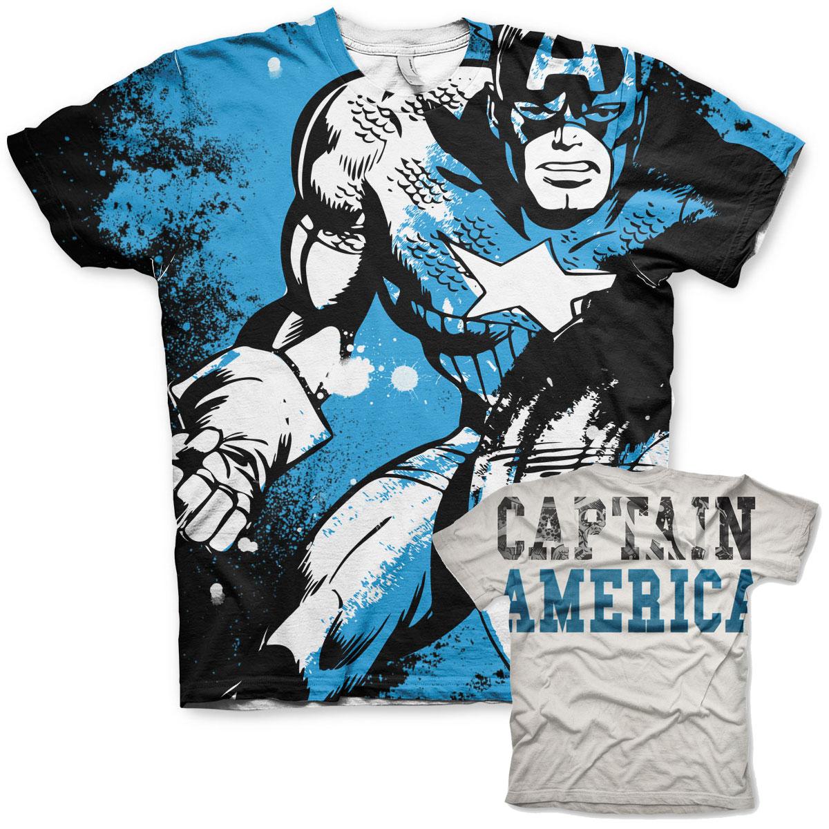 Captain America Allover T-Shirt