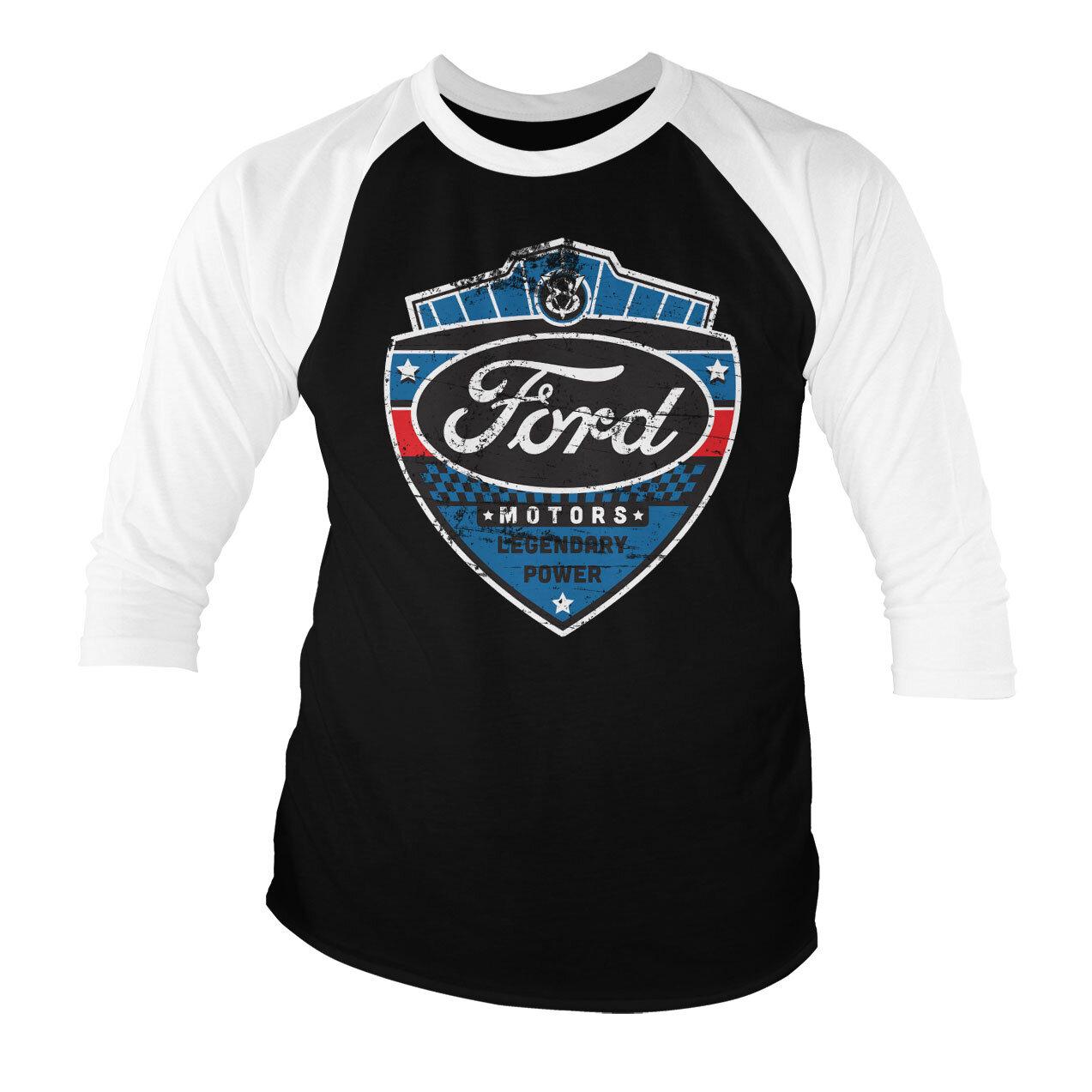 Ford - Legendary Power Baseball 3/4 Sleeve Tee