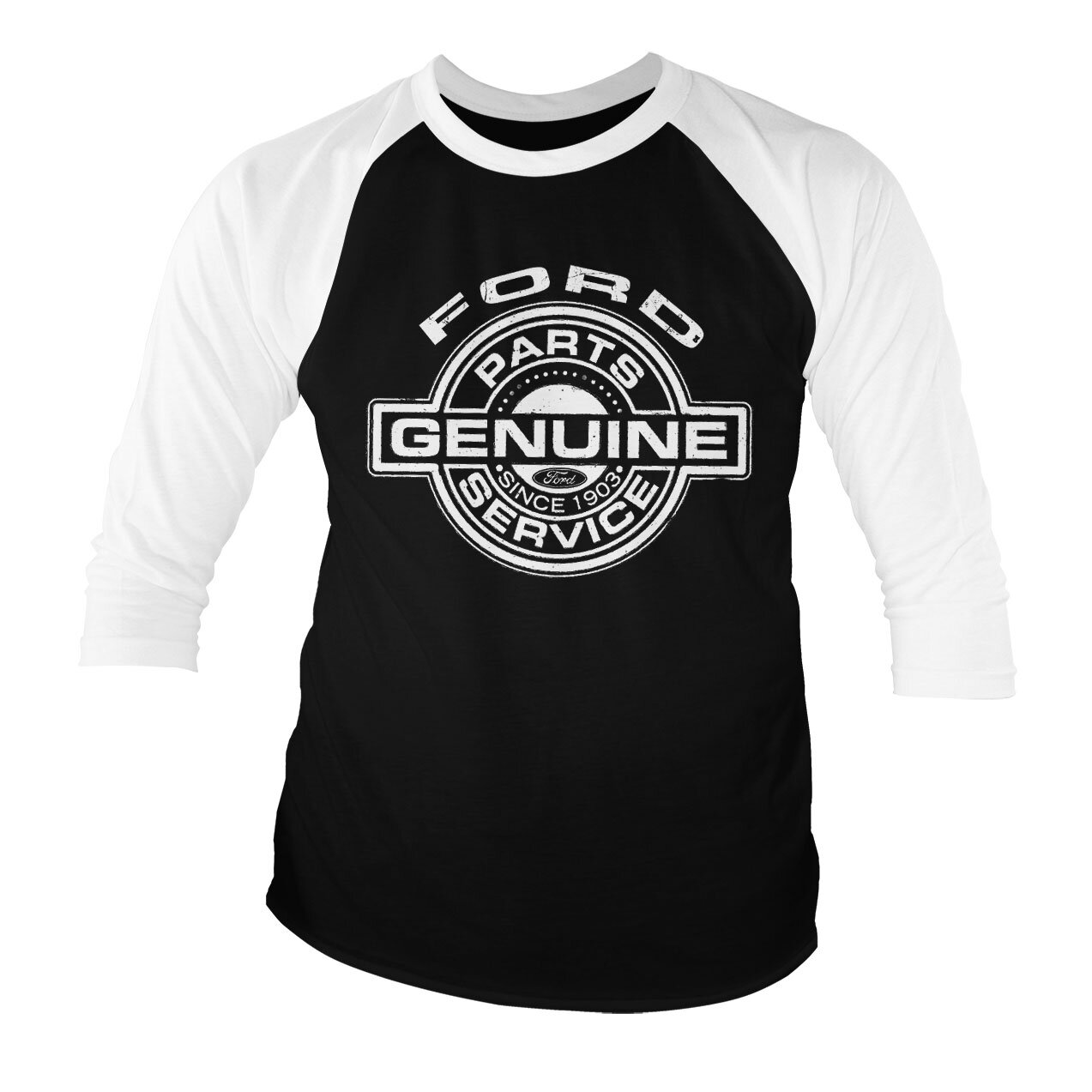 Ford - Genuine Parts And Service Baseball 3/4 Sleeve Tee