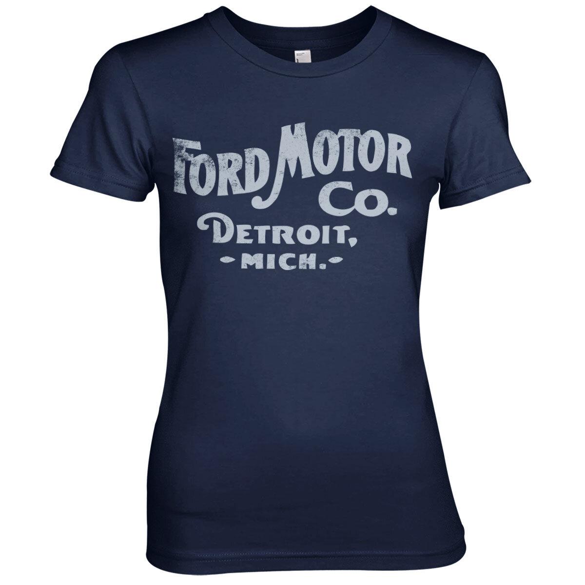 Ford Motor Company Retro Logo Girly Tee