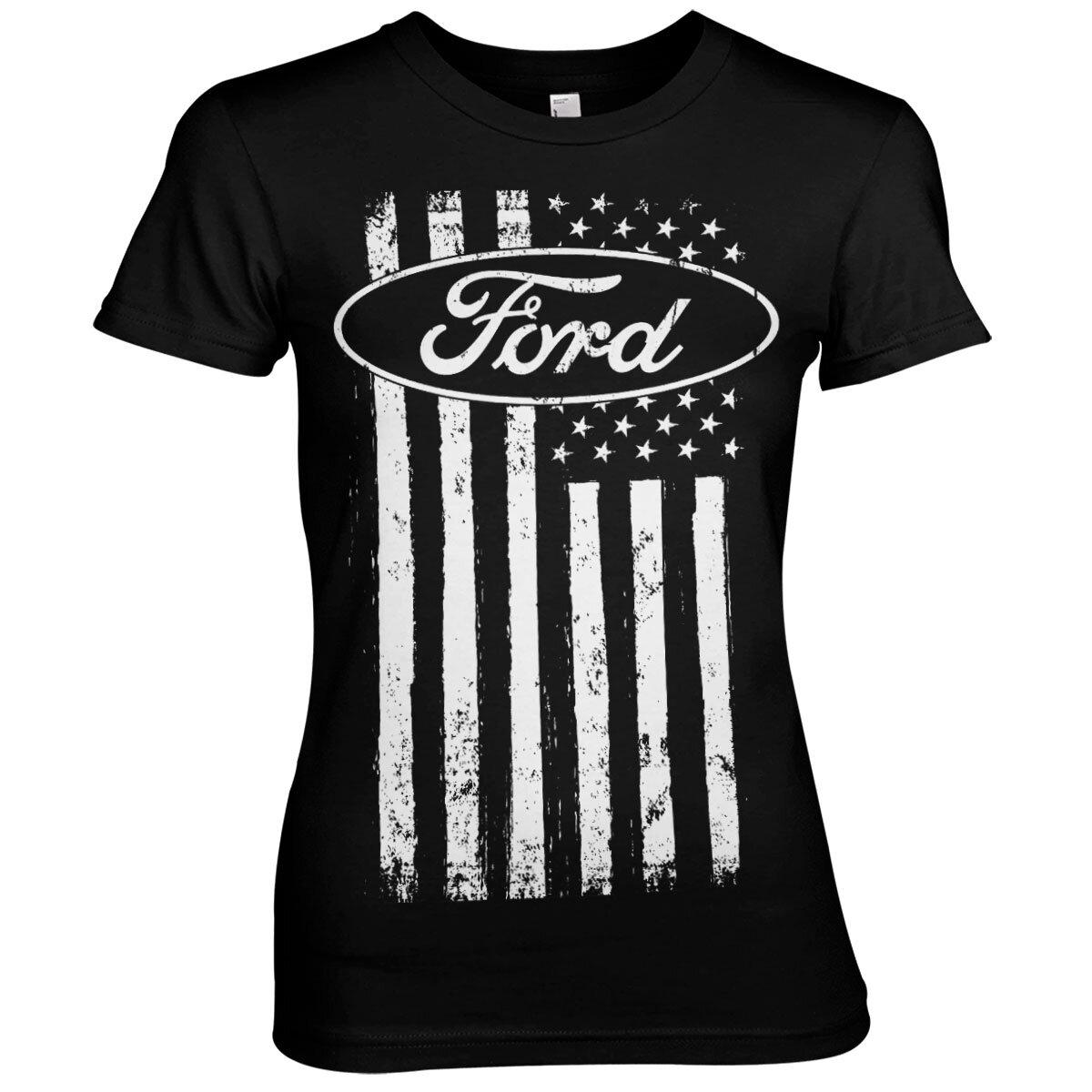 Ford American Flag Girly Tee