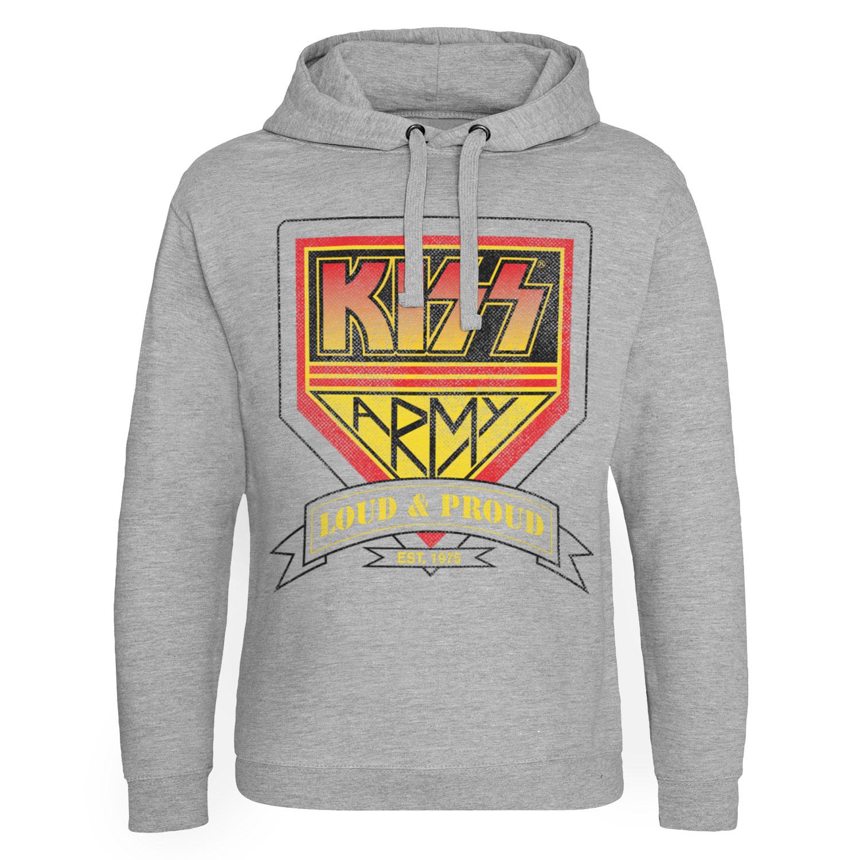 KISS ARMY - Loud & Proud Distressed Logo Epic Hoodie