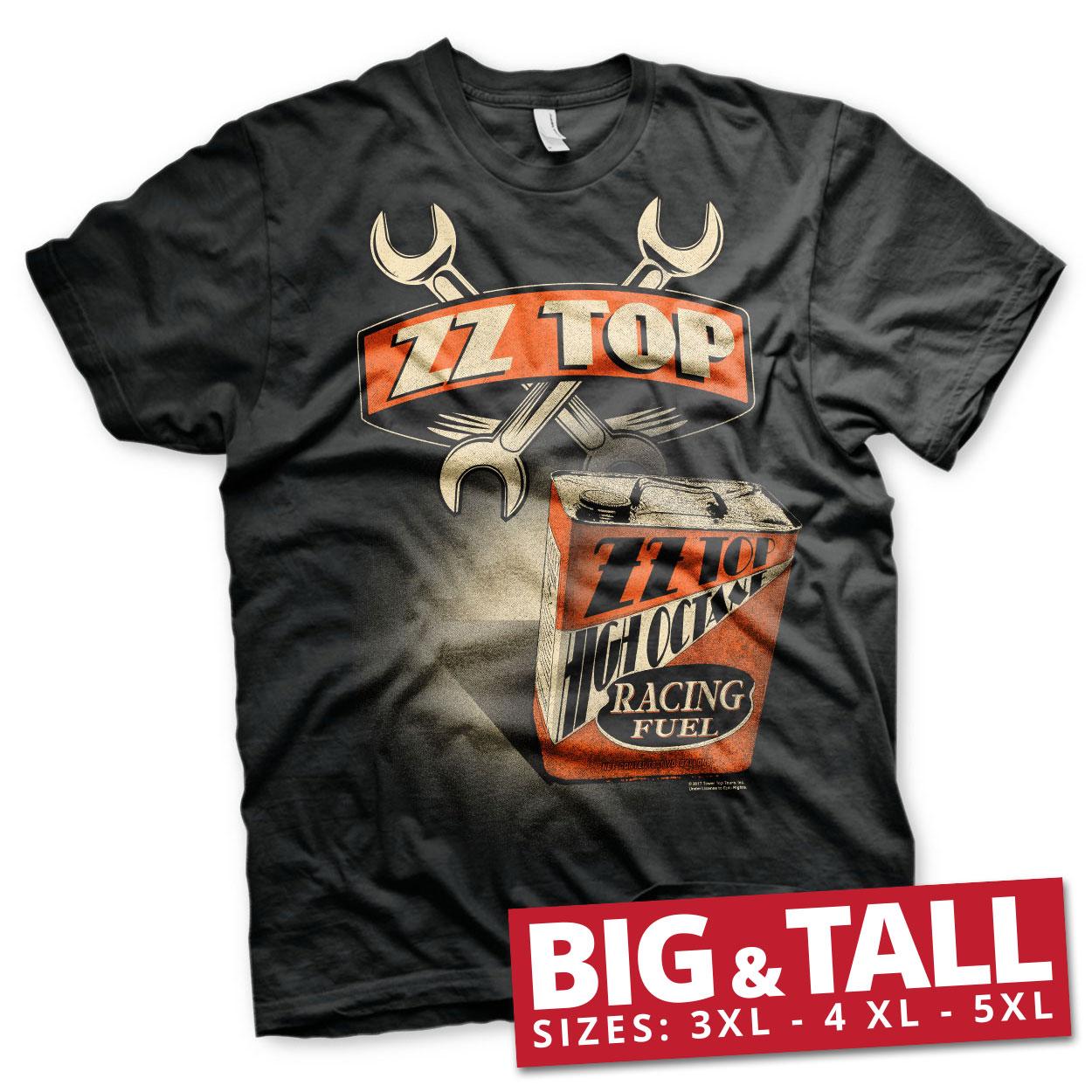 ZZ-Top High Octane Racing Fuel Big & Tall T-Shirt