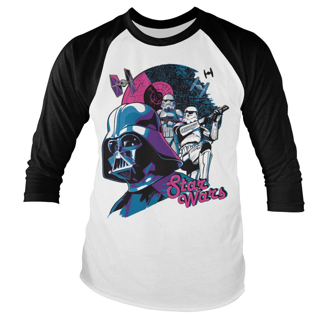 Star Wars - Colorful Death Baseball Long Sleeve Tee