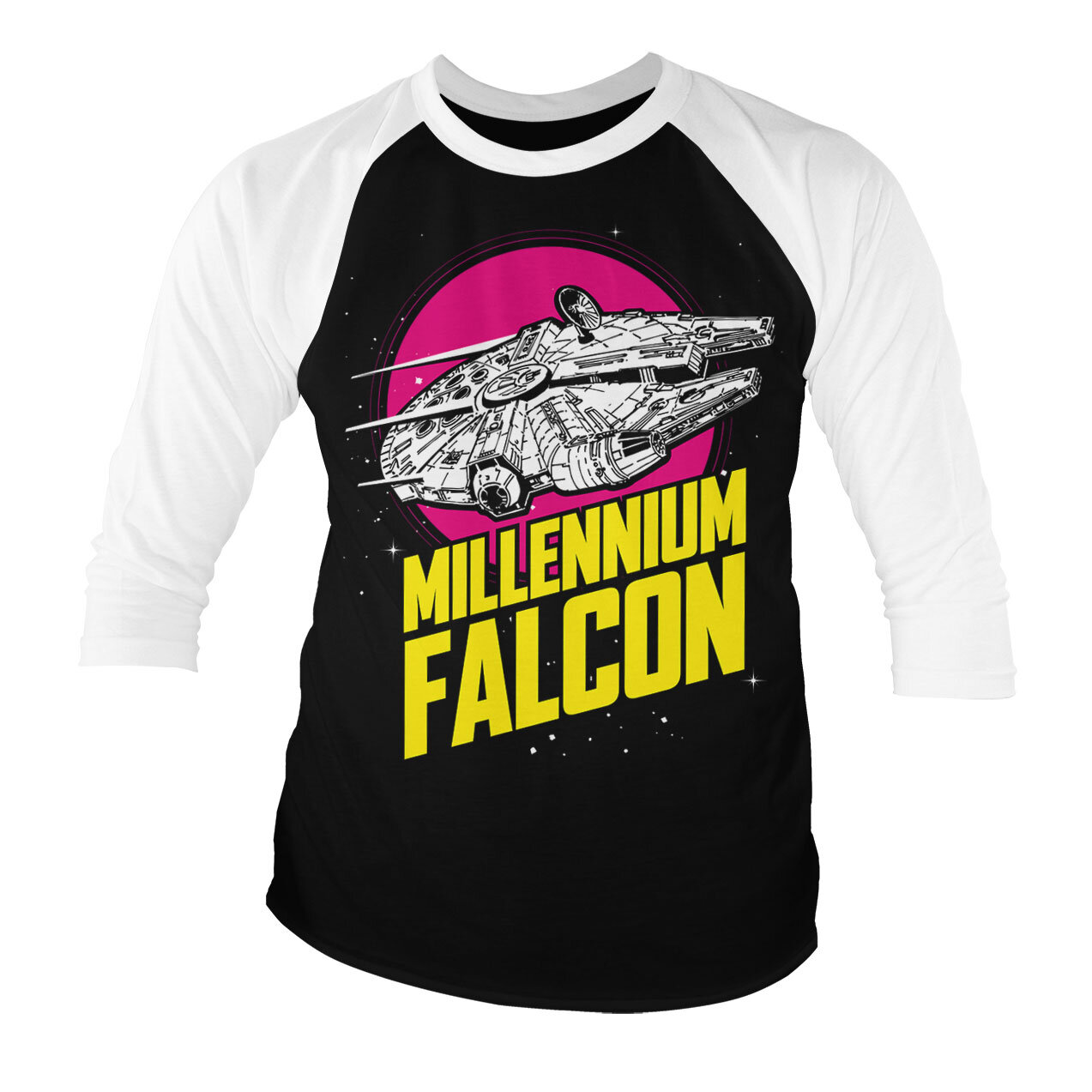 Millennium Falcon Retro Baseball 3/4 Sleeve Tee