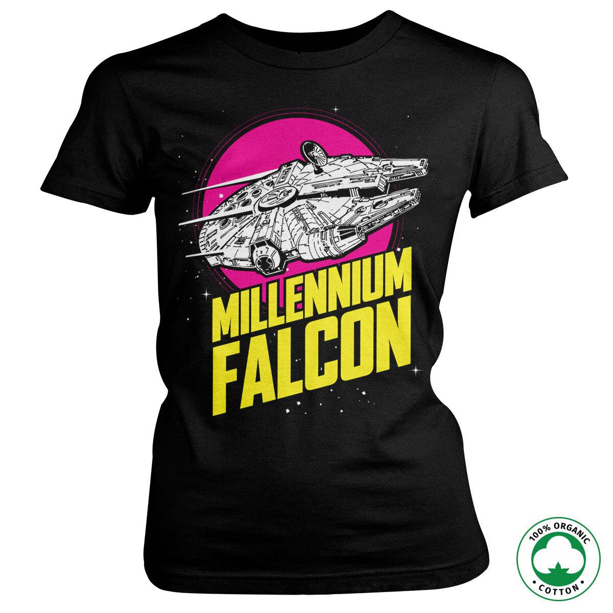 Millennium Falcon Retro Organic Girly Tee