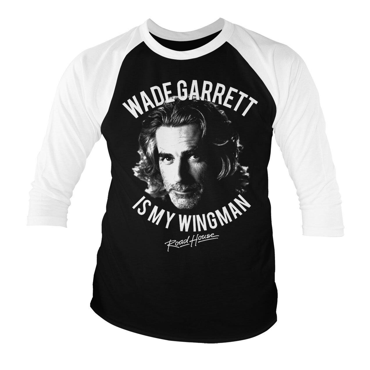 Wade Garrett Is My Wingman Baseball 3/4 Sleeve Tee
