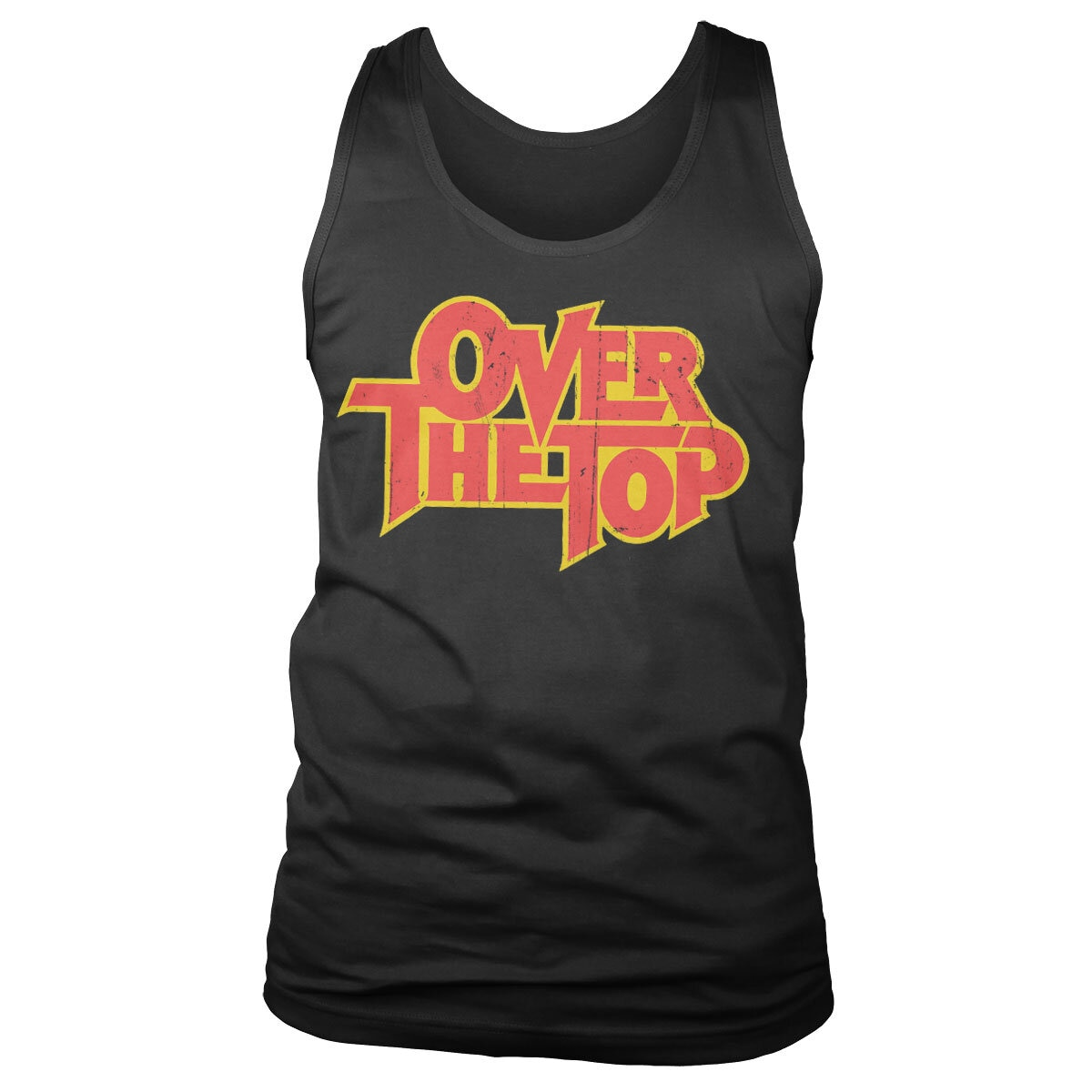 Over The Top Washed Logo Tank Top