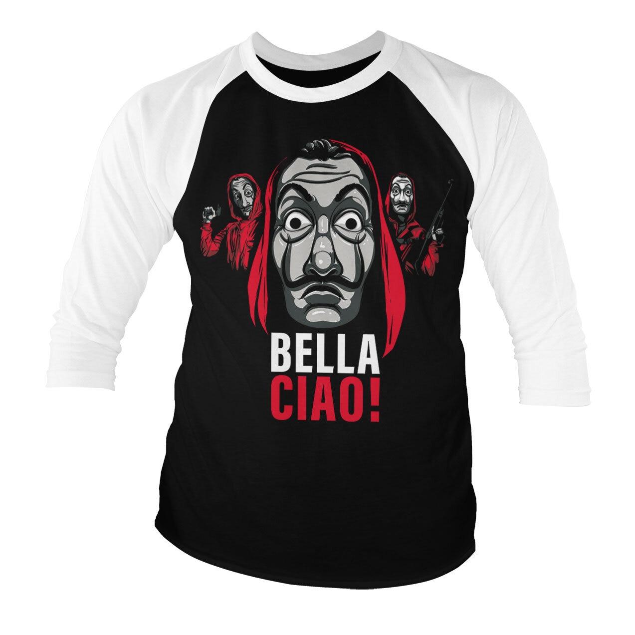 La Casa De Papel - Bella Ciao! Baseball 3/4 Sleeve Tee