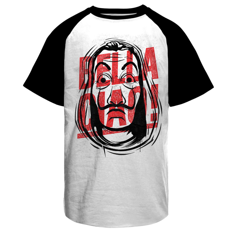 Masked Bella Ciao Baseball T-Shirt