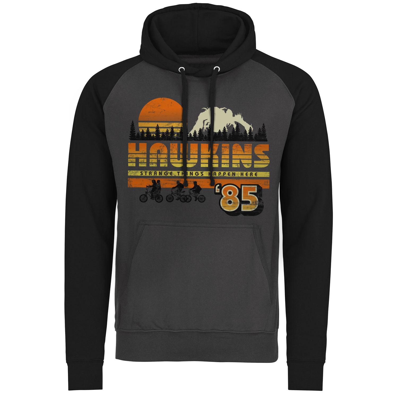 Hawkins '85 Vintage Baseball Hoodie