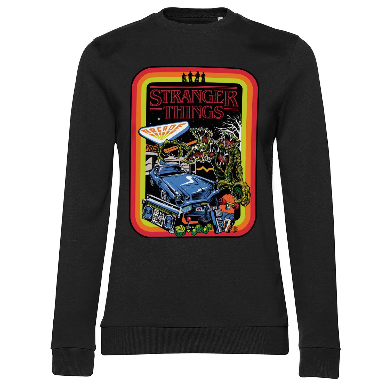 Stranger Things Retro Poster Girly Sweatshirt