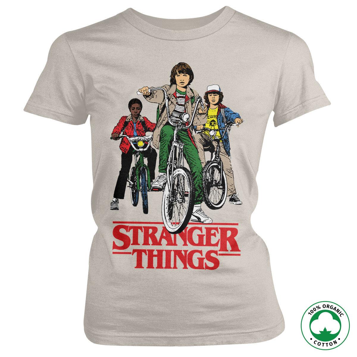 Stranger Things Bikes Organic Girly Tee