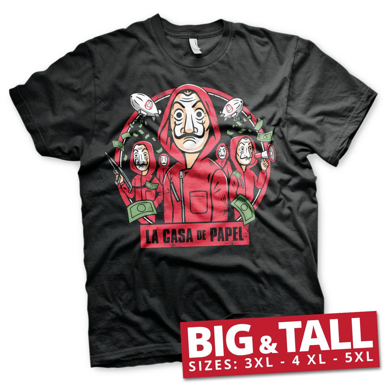 La Casa De Papel Kawaii Big & Tall T-Shirt
