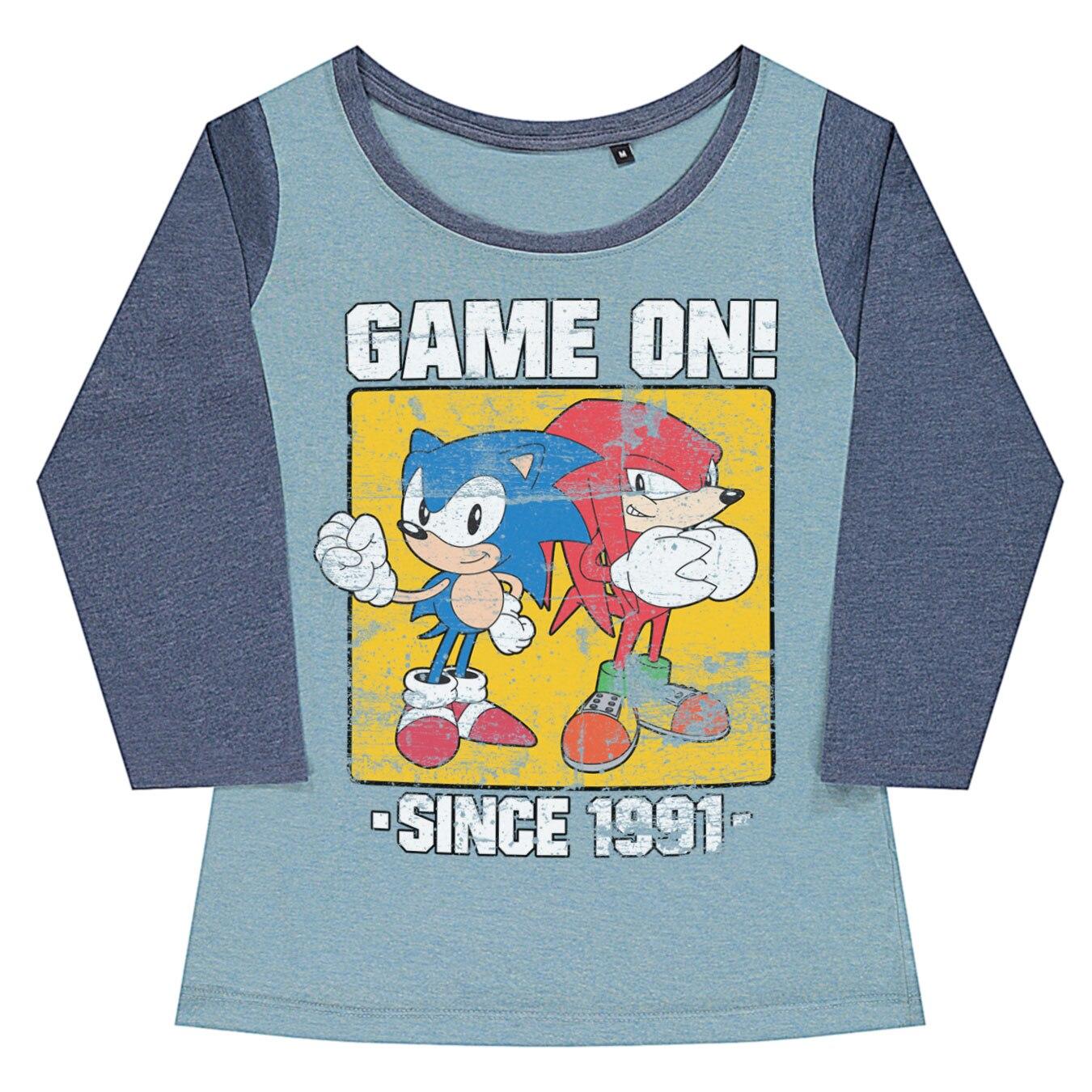 Sonic - Game On Since 1991 Baseball Girly Tee