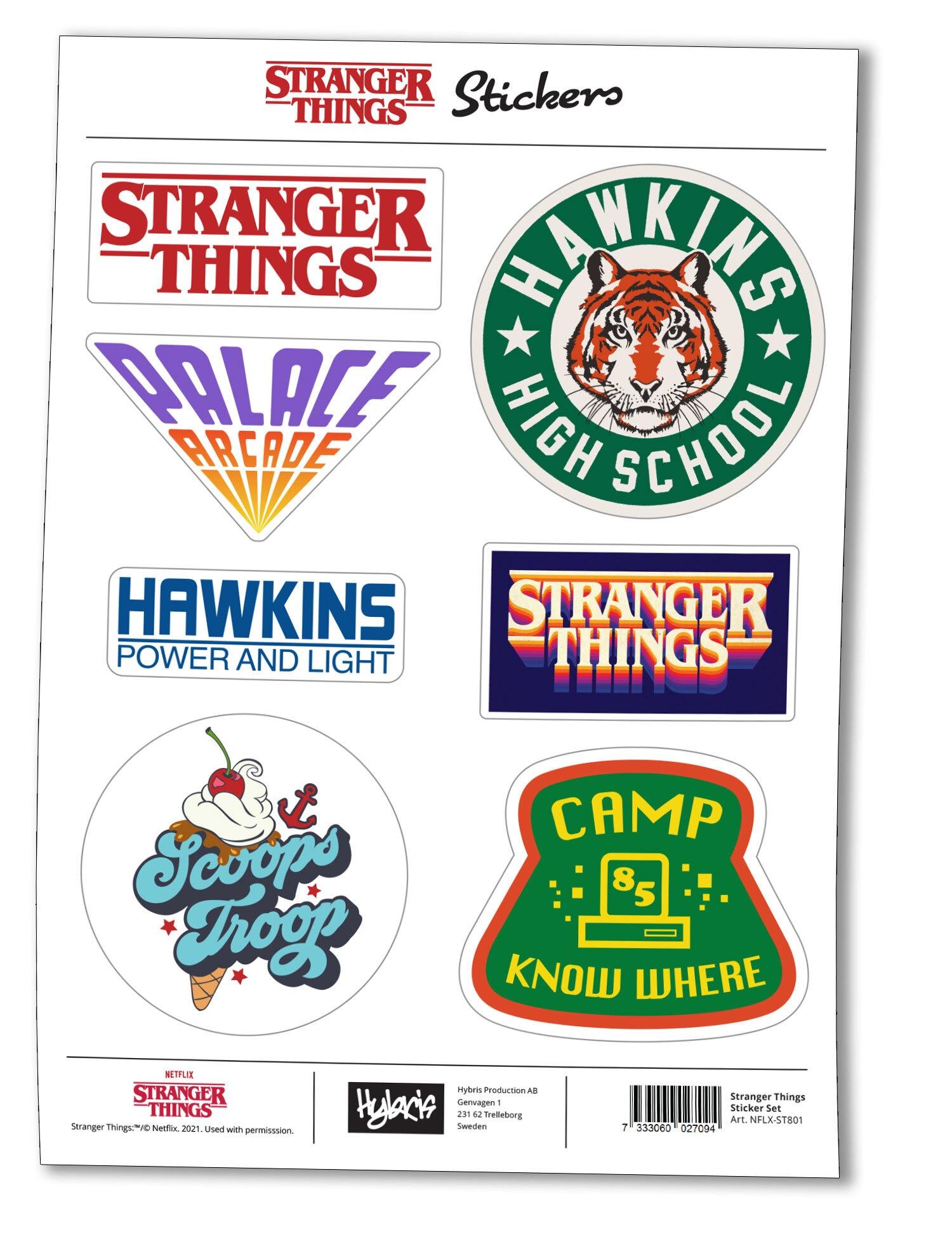 Stranger Things Sticker Set