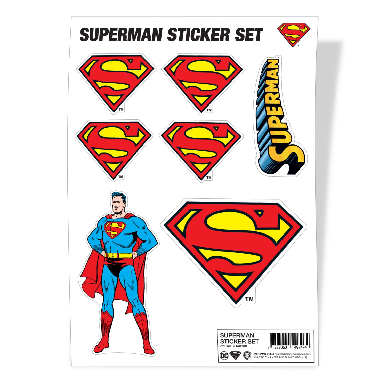 Superman Sticker Set