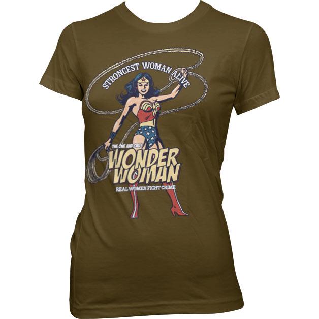 Wonder Woman - Strongest Woman Alive Girly Tee