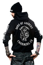d30a3b77 Sons Of Anarchy - Full CA Backprint Zip Hood